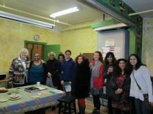 From Left- Mary Jo Leddy, Grace Henry, Shahid Akhtar, Shirinn Akhtar,Nauman, Reem El Rafii,Nicole, Laila Akhtar, Rachel Saffer, Dalia Krusner