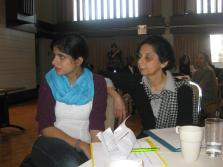 Samira Kanji, Noor President (right) with her daughter who MCed the event at the Noor Cultural Centre on Nov 18, 2012.